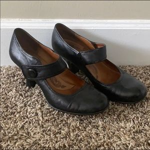 Sofft black Mary Jane heels, size 9